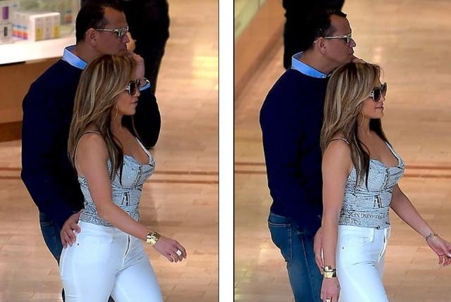 Jennifer Lopez hạnh phúc hôn bạn trai tại trường quay - 1