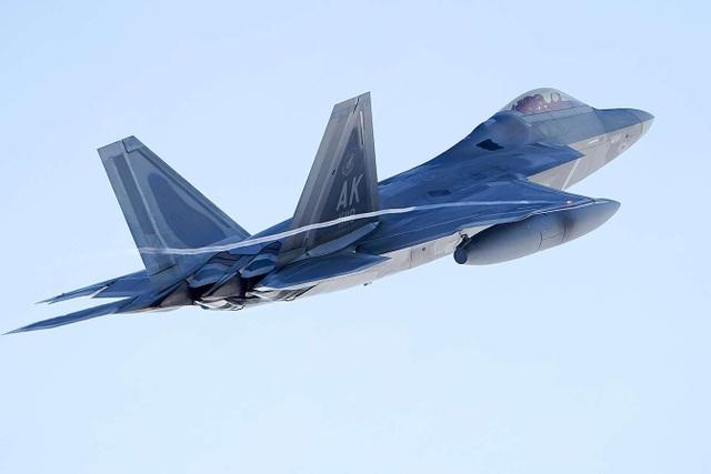 """Phi đội 24 máy bay chiến đấu F-22 của Mỹ tập trận """"Voi đi bộ"""" - 10"""