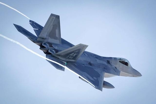 """Phi đội 24 máy bay chiến đấu F-22 của Mỹ tập trận """"Voi đi bộ"""" - 8"""