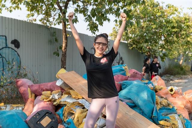 Top 3 Hoa hậu Hoàn Vũ hào hứng tham gia thử thách dọn rác - 12