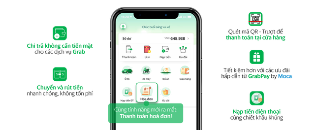 Ví điện tử GrabPay by Moca triển khai tính năng thanh toán hóa đơn - 1