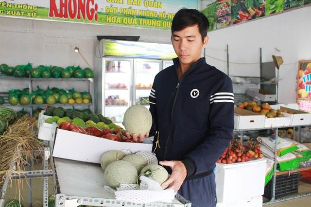 Chàng trai xứ Nghệ thu nhập tiền tỷ từ dưa lưới và rau quả sạch - 3