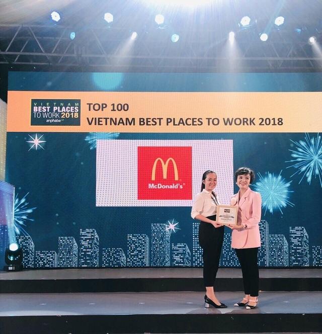 """McDonald's 4 năm liên tiếp nằm trong """"Top 100 nơi làm việc tốt nhất Việt Nam"""" - 1"""