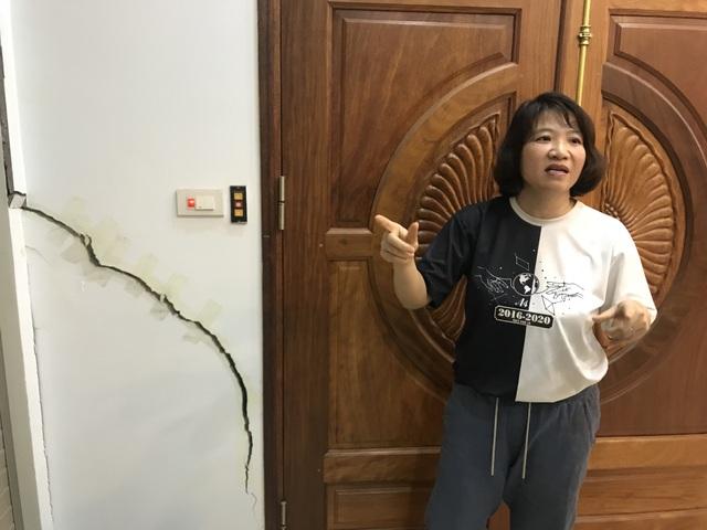 Hà Nội: Hãi hùng 80 căn hộ trong khu đô thị bị sụt lún, nứt toác - 2