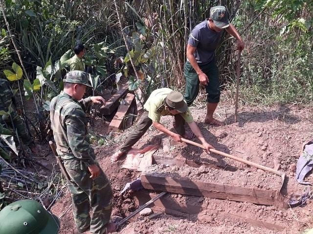 Phát hiện 3 hầm giấu gỗ nghi là tang vật vụ phá rừng ở Phong Nha - Kẻ Bàng - 1