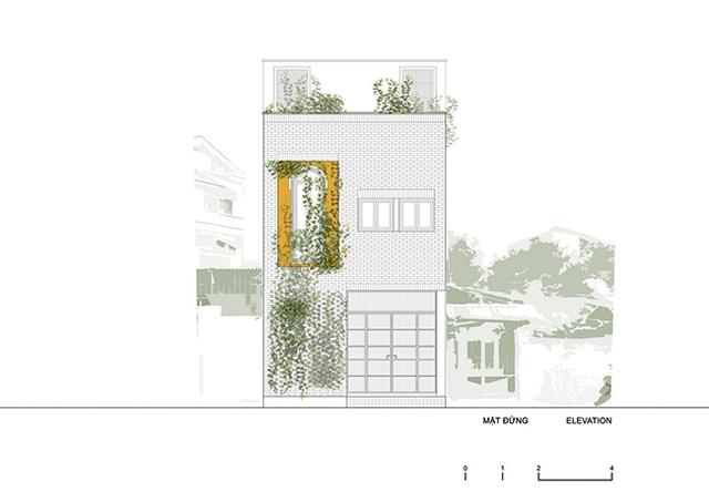 """Nhà """"siêu mỏng"""" ở Hà Nội khiến tạp chí kiến trúc thế giới ngỡ ngàng - 2"""