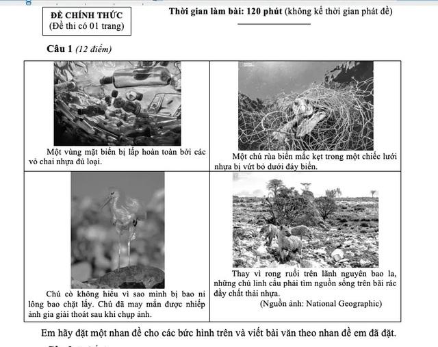 Hình ảnh đẹp đẽ và đau thương vào đề Văn của TPHCM - 2