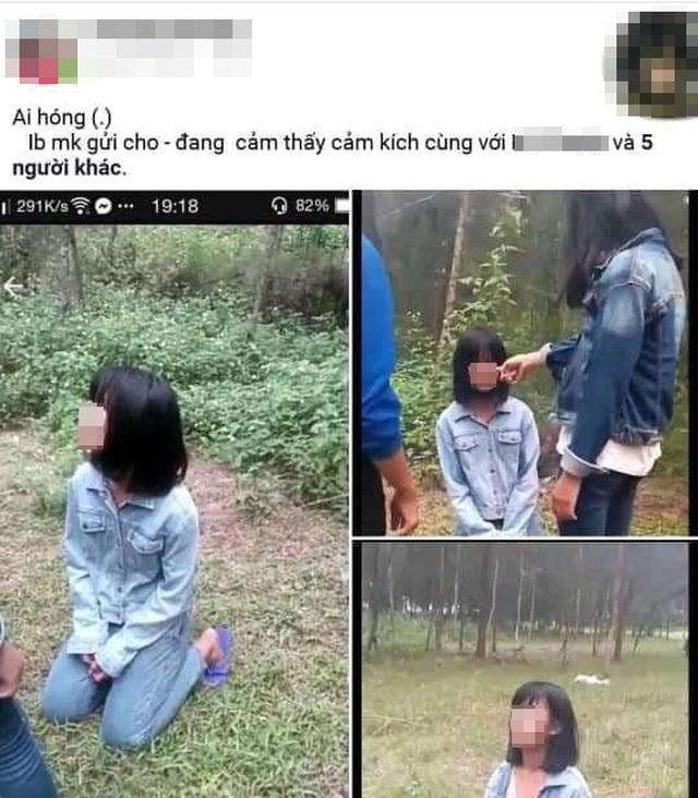 Một nữ sinh bị bắt quỳ, bị đánh, tung clip lên Facebook - 1