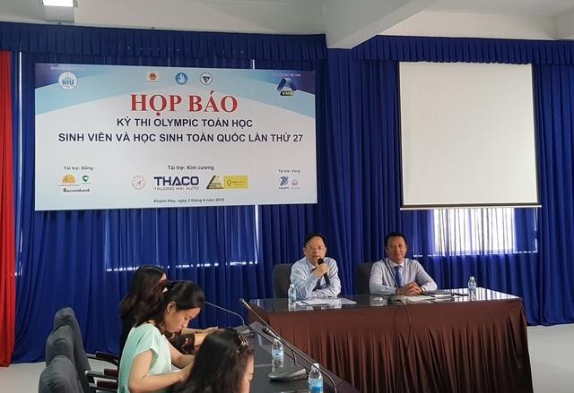 Khai mạc Kỳ thi Olympic Toán học sinh viên, học sinh toàn quốc tại Nha Trang - 1