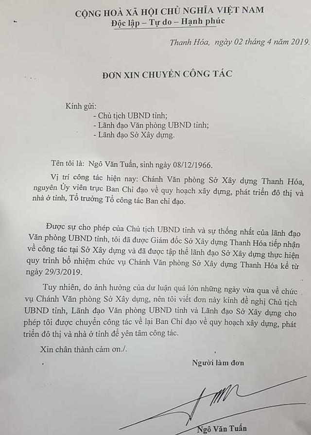 Cựu Phó Chủ tịch Thanh Hóa Ngô Văn Tuấn xin rút khỏi chức Chánh văn phòng sở - 2