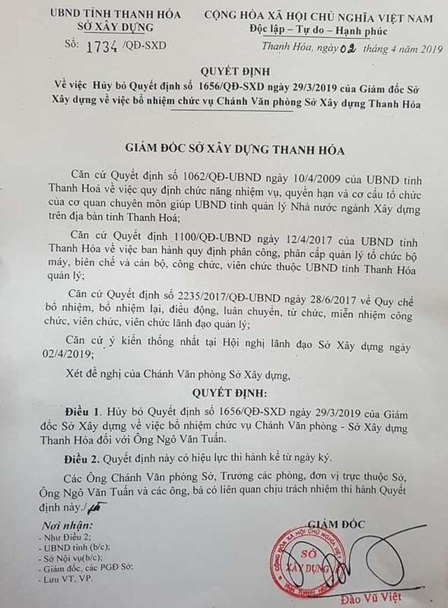 Cựu Phó Chủ tịch Thanh Hóa Ngô Văn Tuấn xin rút khỏi chức Chánh văn phòng sở - 3