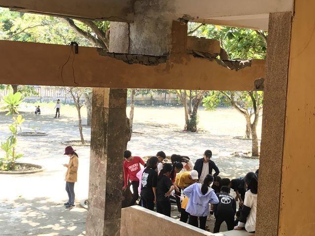 """Quảng Ngãi: Chỉ đạo kiểm tra ngôi trường """"vừa học vừa run"""" ở Lý Sơn - 1"""