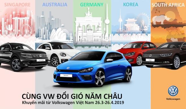 """Volkswagen tặng gói du lịch """"năm châu bốn bể"""" cho khách hàng mua xe - 1"""