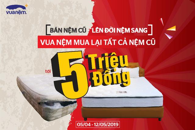Bán nệm cũ – Lên đời nệm sang:  Vua Nệm mua lại tất cả nệm cũ tới 5 triệu đồng - 1