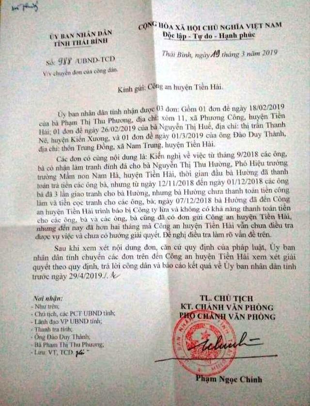 Mất tiền oan vì gia công tranh đính đá cho Phó hiệu trưởng trường mầm non - 2