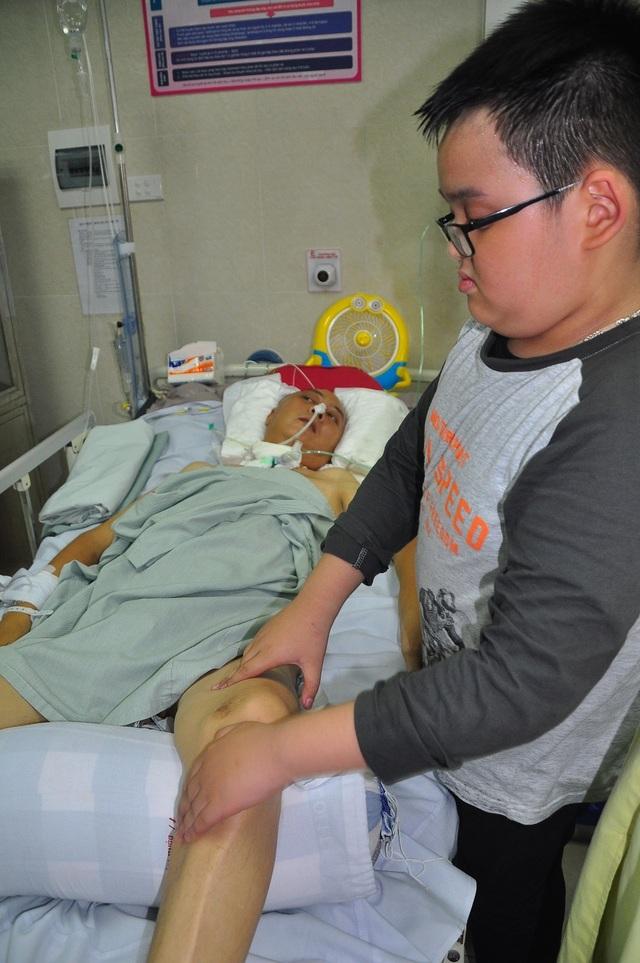 Đột nhiên bị chảy máu não, tính mạng người bố trẻ nguy kịch trong tiếng gọi thảm thiết của con - 5