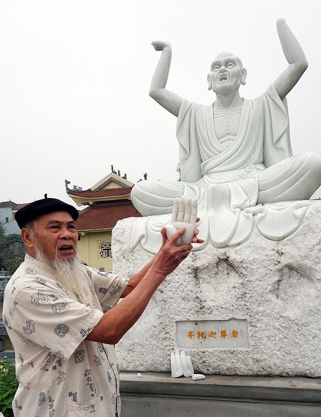 Cận cảnh những pho tượng La Hán trong chùa bị kẻ xấu đập phá - 2