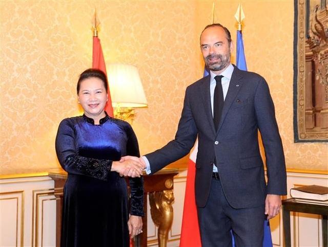 Chủ tịch Quốc hội Nguyễn Thị Kim Ngân hội kiến Thủ tướng Pháp - 1