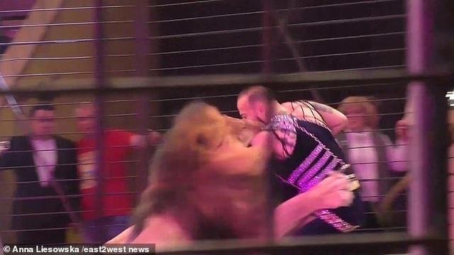 Kinh hoàng khoảnh khắc sư tử tấn công người huấn luyện - 1