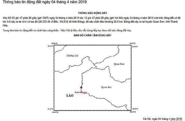 Động đất 3,8 độ richter, nhà cửa rung lắc kèm nhiều tiếng nổ trong lòng đất - 1