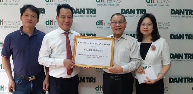 Tập đoàn Tân Hoàng Minh ủng hộ 60 triệu đồng giúp xây dựng phòng học tại tỉnh Phú Thọ - 1