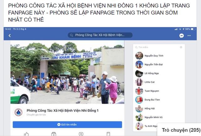 """Mạo danh fanpage của bệnh viện để """"câu"""" tiền từ thiện - 1"""