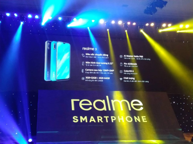 Realme 3 ra mắt, màn hình giọt sương, pin 4230mAh, giá 3,9 triệu - 4