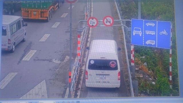 Xử lý nghiêm ô tô lưu thông vào làn đường xe máy trên cao tốc - 1