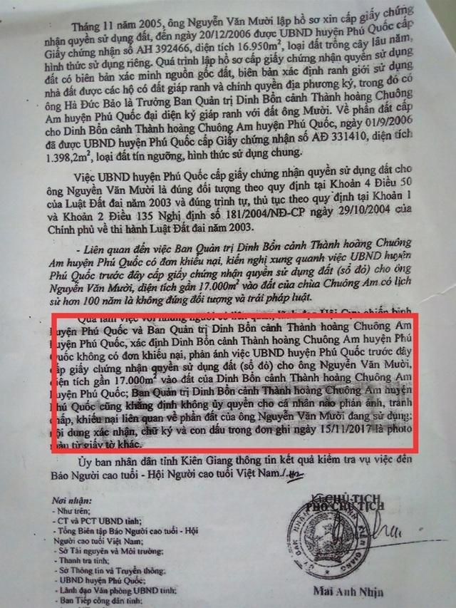 """Vụ """"xẻo"""" gần 17.000m2 đất chùa cấp cho cá nhân: UBND tỉnh Kiên Giang nói gì? - 1"""