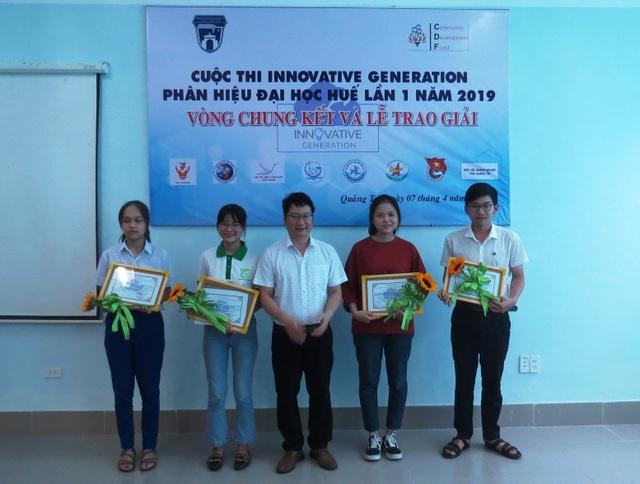 Quảng Trị: Trao giải thưởng 5 dự án xuất sắc cuộc thi sáng tạo Innovative Generation - 1