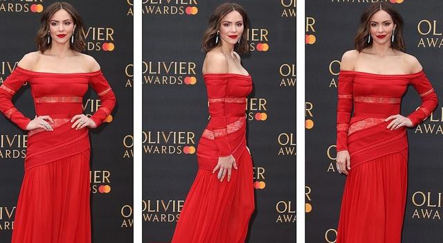 Katharine McPhee lộng lẫy với váy đỏ - 3