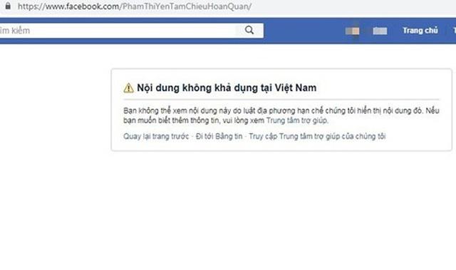 Facebook khóa tài khoản của bà Phạm Thị Yến chùa Ba Vàng - 1