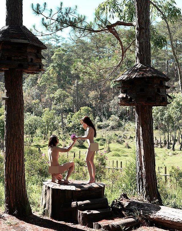 Cặp đôi chụp ảnh cưới khỏa thân tại Đà Lạt khiến dư luận bức xúc - 2