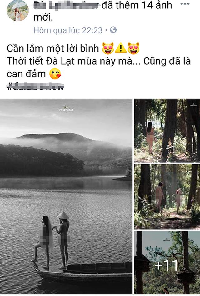 Cặp đôi chụp ảnh cưới khỏa thân tại Đà Lạt khiến dư luận bức xúc - 1