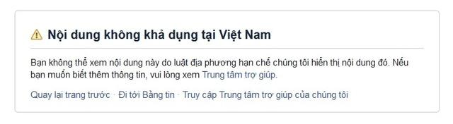 Facebook chỉ chặn chứ không khóa tài khoản bà Phạm Thị Yến? - 1