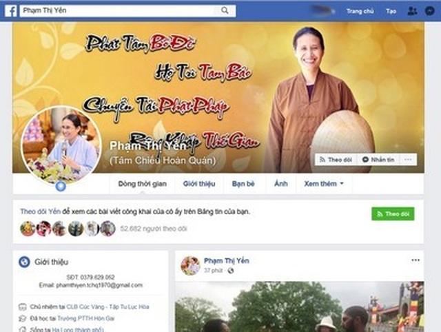 Facebook chỉ chặn chứ không khóa tài khoản bà Phạm Thị Yến? - 3