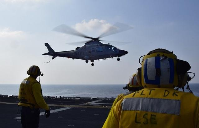 Tàu chiến, máy bay Mỹ - Philippines tập trận rầm rộ trên Biển Đông - 8