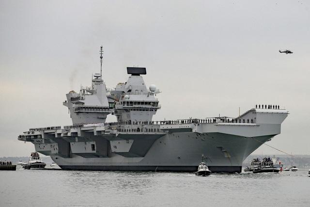 Tàu sân bay Anh có thể đến châu Á ngay trong sứ mệnh đầu tiên - 1