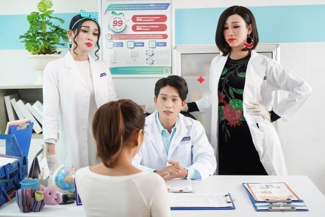 Y tá BB Trần và Hải Triều khuấy động phòng khám trong phim hài mới - 3