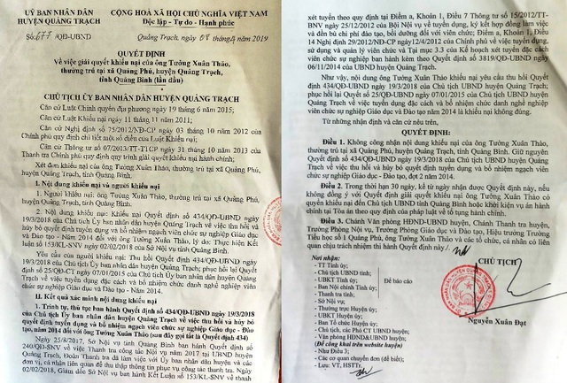 Quảng Bình: Hủy quyết định tuyển dụng viên chức với 6 giáo viên khai man hồ sơ - 2