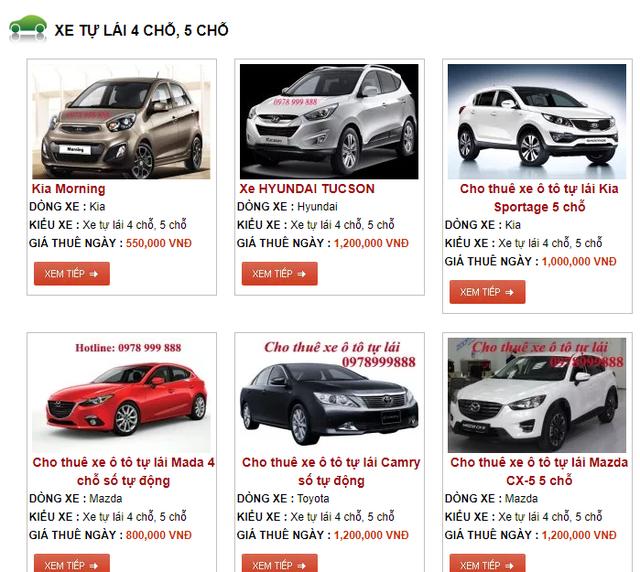 Loạn giá thị trường cho thuê xe tự lái dịp nghỉ lễ - 2