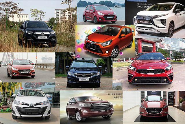 Top 10 mẫu xe bán nhiều nhất