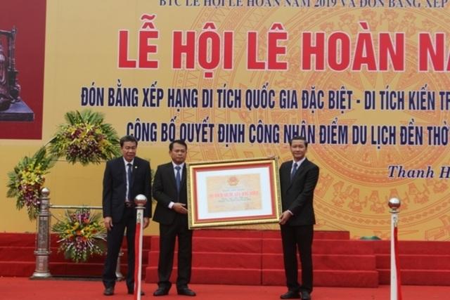 Đón bằng xếp hạng di tích quốc gia đặc biệt di tích kiến trúc nghệ thuật đền thờ Lê Hoàn - Ảnh minh hoạ 5