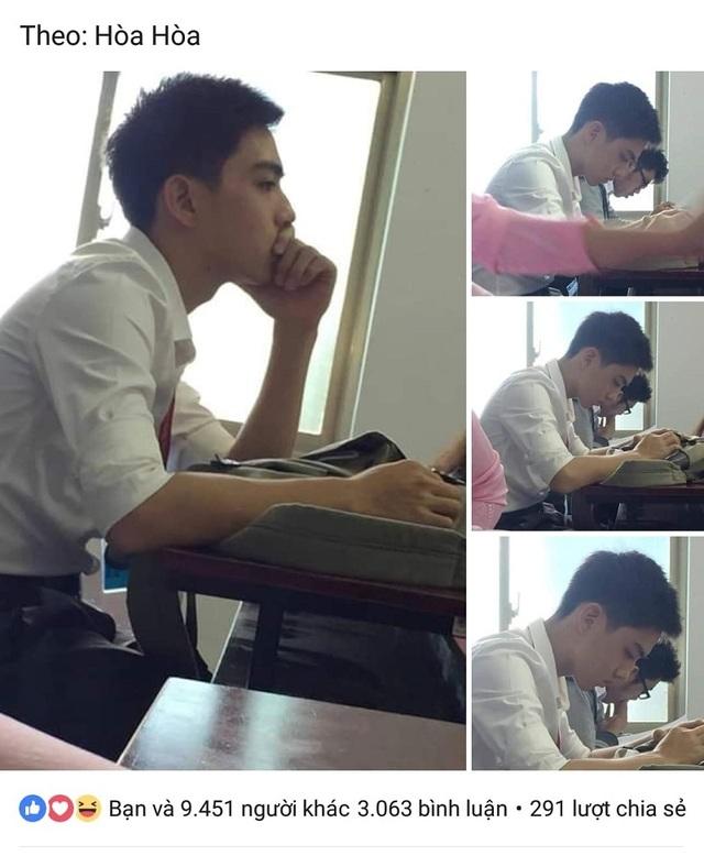 """""""Hot boy bàn bên"""" ĐH Tôn Đức Thắng khiến dân mạng rần rần tìm kiếm - 1"""