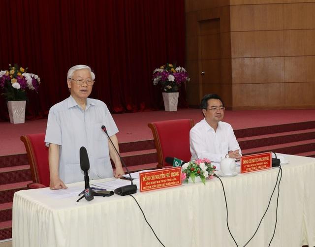 Tổng Bí thư, Chủ tịch nước làm việc với lãnh đạo chủ chốt tỉnh Kiên Giang - 1