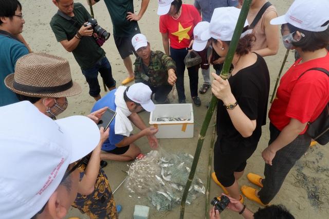 Một ngày làm ngư dân ở đảo Quan Lạn: Một mẻ lưới thu cả chục kg cá - 6