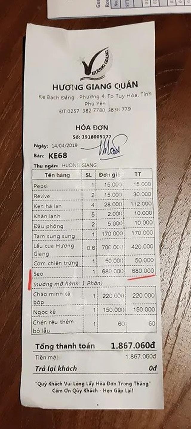 """Phú Yên thông tin về vụ khách du lịch tố bị """"chém"""" đĩa sò điệp có giá 680.000 đồng - 1"""