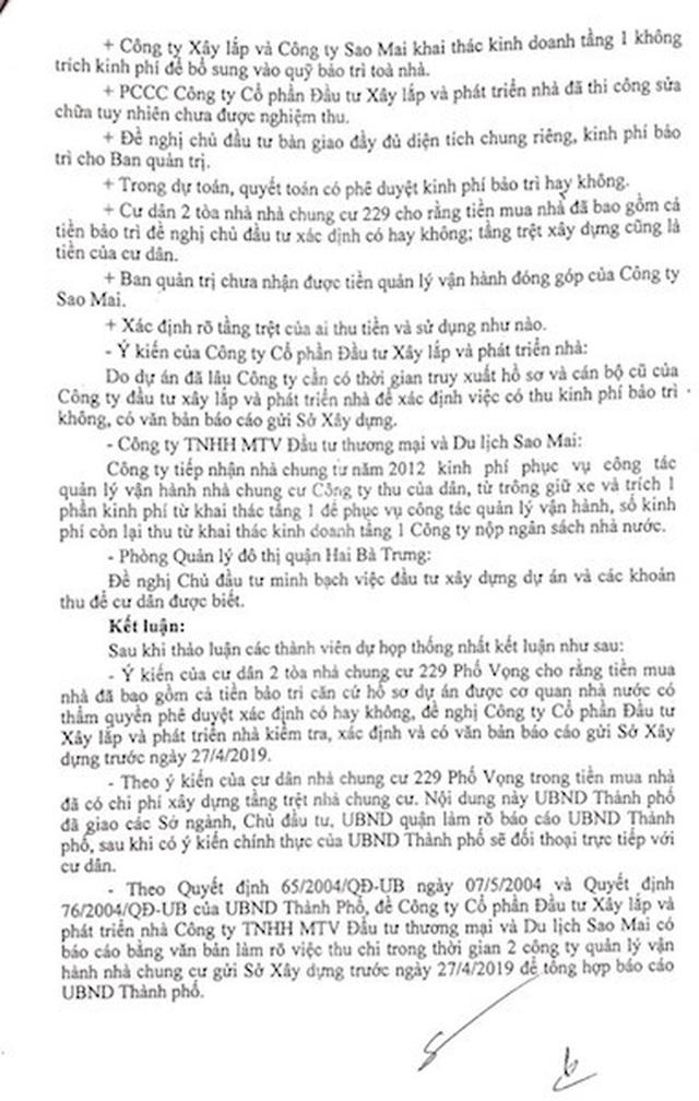 Cư dân chung cư 229 phố Vọng kêu cứu: Chính quyền vẫn liên tiếp họp, chỉ đạo! - 4