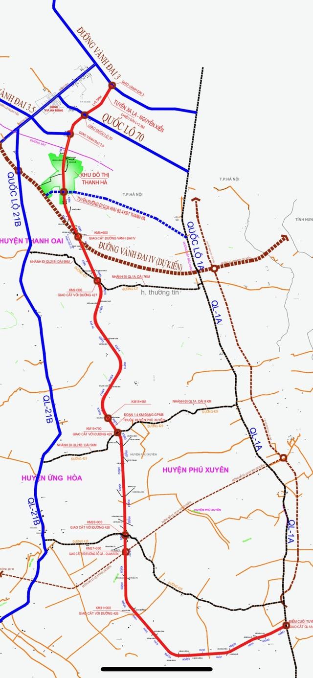 Toàn cảnh tuyến đường Xa La - Nguyễn Xiển đến cao tốc Pháp Vân - Cầu Giẽ qua Khu đô thị Mường Thanh Thanh Hà - 1