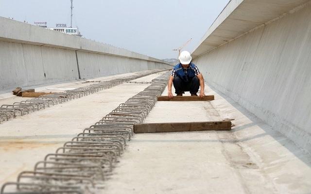 Hình ảnh tuyến đường sắt mỗi năm làm được 1 kilomet Nhổn - Ga Hà Nội - 5